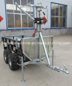 Small Farm UTV Tow Winch Carrier Trailer pictures & photos