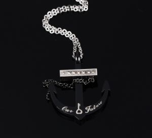 Men′s Personalized Fashion Jewelry Stainless Steel Anchor Diamond Necklace Pendant pictures & photos