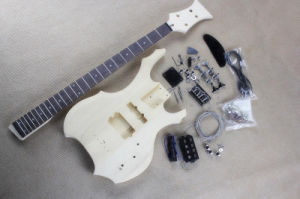 Hanhai/Unusual Shape 4 Strings Electric Bass Guitar Kit (DIY Guitar Parts) pictures & photos