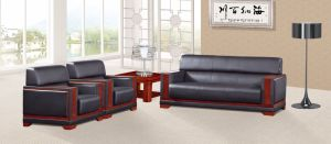 Italy Design Classic Wooden Office Furniture Leather Office Sofa (NS-E013) pictures & photos