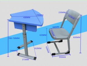 Adjustable School Chair Student Chair for Library pictures & photos