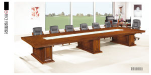 Retangle Solid Wood Hyper Long Conference Table for Large Company pictures & photos