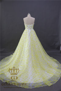 2017 Fashion Women Organza Lace Ladies Evening Dresses Bridal Wedding Party Prom Dress pictures & photos