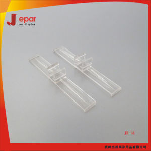 Clear Supermarket Promotional Plastic Hook Clip for Plastic Frame pictures & photos