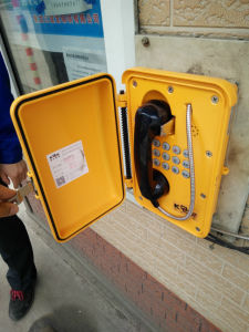 Wall Mounted Vandal Resistant Telephone Knsp-08 Industrial Telephone with Silicone Keypad pictures & photos