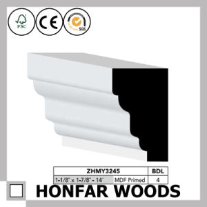 Modern Style MDF Primed Crown Moulding for Hotel Building pictures & photos