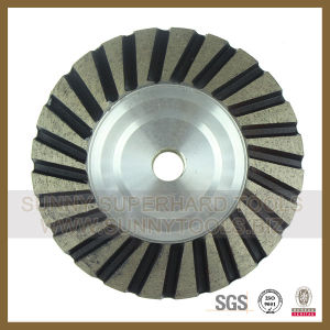 100mm Turbo Row Diamond Grinding Wheel for Concrete pictures & photos