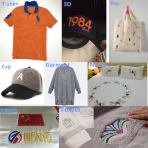 Wonyo Double Head Embroidery Machine Compterized 9/12 Needle Embroidery Machine for Cap T-Shirt Towel Logo Embroidery pictures & photos