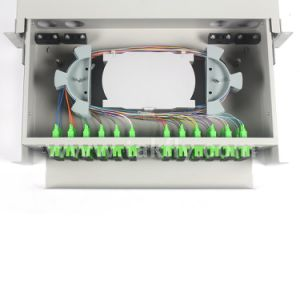 FC/Sc/LC/St 48 Ports FTTH/FTTX Optical Rack Mounted ODF pictures & photos