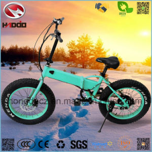 Wholesale 250W 20inch Fat Tire Electric Mini Folding Bicycle pictures & photos