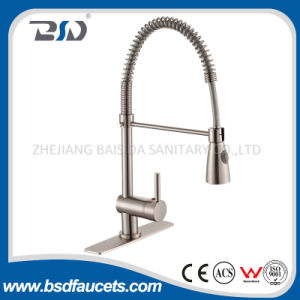 Chinese Solid Brass Pull out Spray Spring Kitchen Faucets pictures & photos