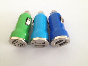 Car Charger with 2 Dual USB Ports Bullet Shape pictures & photos