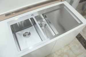 Topmount Handmade Stainless Steel Kitchen Sink with Drainer pictures & photos