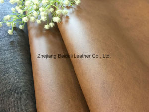 High Quality Plain Microfiber Imitated Sofa Upholstery PVC Leather pictures & photos