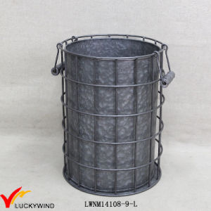 Outdoor Vintage Galvanized Metal Bucket Planters pictures & photos