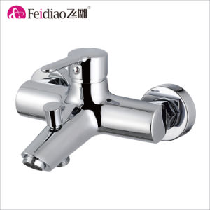 Simple Design Good Quality Chrome Plated Brass Single Handle Kitchen Faucet pictures & photos