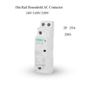 2p 25A Ict Household DIN Rail AC Contactor pictures & photos