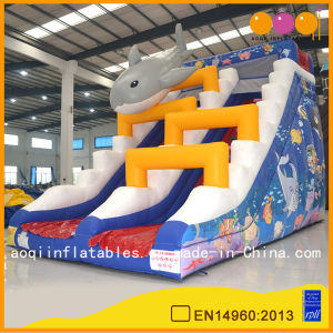 Gym Equipment Inflatable Ocean Shark Slide (AQ01206) pictures & photos
