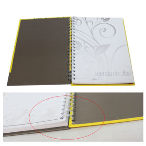 Yellow Plastic Cover Spiral Exercise Notebook pictures & photos