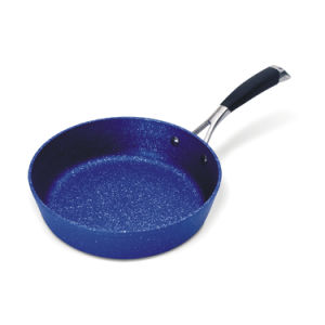 High Quality Marble Coated Aluminum Deep Frying Pans Wtih S/S Handles