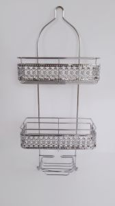 Chrome-Plating Copper Plating Metal Wire Bathroom Hanging Shower Caddy pictures & photos