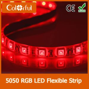 Long Life High Brightness SMD5050 DC12V Flexible LED Strip pictures & photos