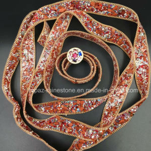 2017 New Backing Red 20mm Glass Bead Stone Chain Hot Fix for Textiles (TP-050) pictures & photos