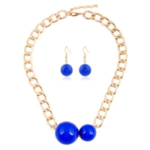 2 PCS Set Big Pearl Fashion Earring Choker Necklace Jewelry Set pictures & photos