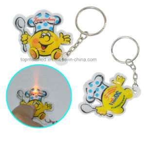 LED Light PVC Keychain with OEM Logo, Custom Promotion Product, Ideal Promotional Gift pictures & photos