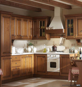 High End Custom Made Solid Wood Kitchen Cabinets Bwk-40 pictures & photos