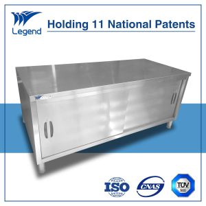 Heavy Duty Stainless Steel Cabinet with Sliding Doors pictures & photos