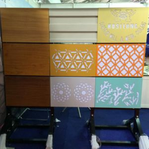 Colorful False Aluminum Ceiling with Irregular Perforation Pattern pictures & photos