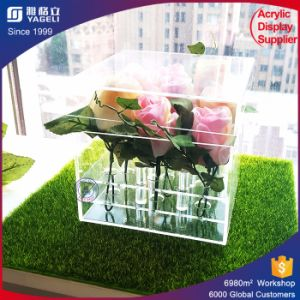 Engrave Flower Acrylic Decorative Box Rose Package Box pictures & photos