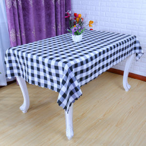Cheapest Polyester Hotel Restaurant Rectangle Grid Table Cloth (DPF107102) pictures & photos