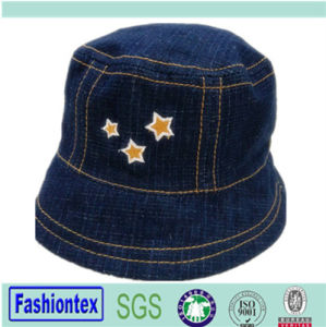 Embroidered Summer Jean Sun Visor Baby Bucket Hat pictures & photos