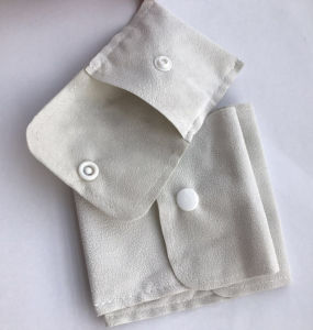 Wholesale Fashion Cream Various Function Double-Side Suede Clamshell Bag with Button pictures & photos