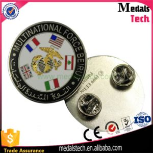 Dongguan OEM Manufacturer Bulk Antoque Silver Square Custom Lapel Pins pictures & photos
