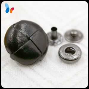 Fashion High-End Real Leather Handmade Spring Snap Button pictures & photos