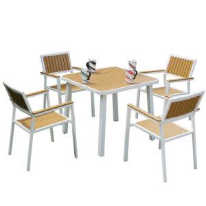 Patio Garden Outdoor Morden Furniture Plasticwood Table Leisure Chair (J820) pictures & photos