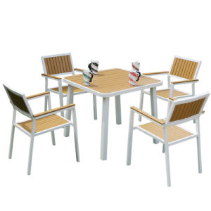 Patio Garden Outdoor Morden Home Hotel Office Plasticwood Leisure Chair and Table (J820) pictures & photos