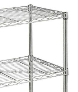 Large Flat Wire Stacking Shelves Collapsible Chrome Plated Flat Wire Shelf pictures & photos