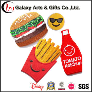 New Production Hamburger Patch Custom Embroidery Patches Cute Patch pictures & photos