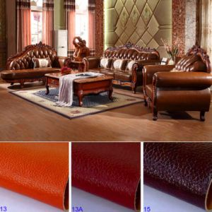 Leather Sofa with Table Cabinets for Living Room Furniture pictures & photos