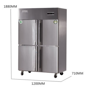 Low Consumption Four Doors Double Compressors Kitchen Refrigerator pictures & photos