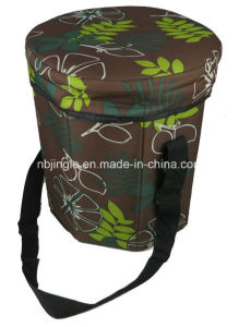 Printed 600d Fashionalble Foldable Storage Seat Cool Box