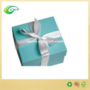 Generous Jewelry Gift Lid and Buttom Box with Ribbon (CKT-CB-301) pictures & photos