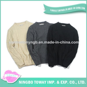 High Quality Handmade Fabric Knitting Men Woolen Sweater pictures & photos