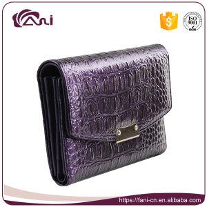 Crocodile Wallet Women, Small Genuine Leather Crocodile Grain Wallet pictures & photos