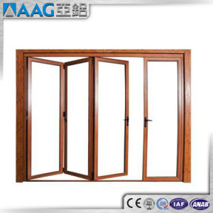 Aluminum/Aluminum Folding Doors and Windows pictures & photos