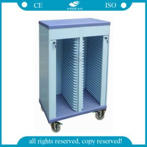 AG-Cht005 with Double Rows Hospital Patient Records Medical Trolley pictures & photos